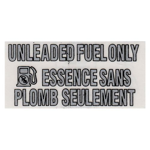1993-95 Ford Lightning Unleaded Fuel Only Decal