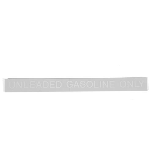 Unleaded Gasoline Decal White