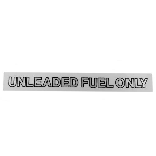 Unleaded Gasoline Only Decal Black/Silver