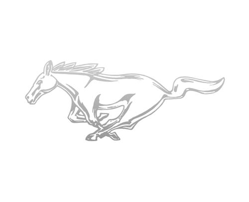 "Mustang 8"" Running Pony Decal LH Silver"