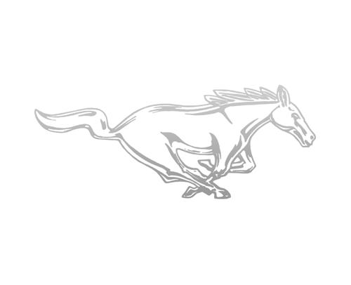 "Mustang 8"" Running Pony Decal RH Silver"