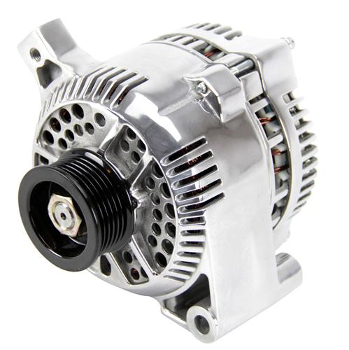 Picture of Mustang 95 Amp Alternator Polished (87-93) GT 5.0