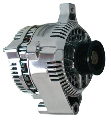 Mustang 130 Amp Alternator  Polished (87-93) GT 5.0 16196B3