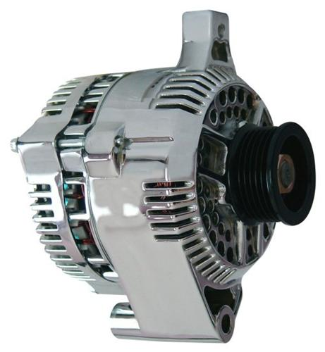 PA Performance Mustang 200 Amp Alternator Chrome (87-93) 5.0 1619-6B2-HO