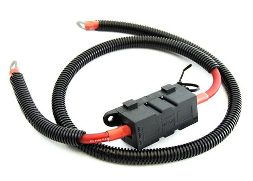 "05-14  MUSTANG 4 GAUGE PREMIUM POWER WIRE FOR USE WITH 170 AND 200 AMP ALTERNATORS 48"" long"