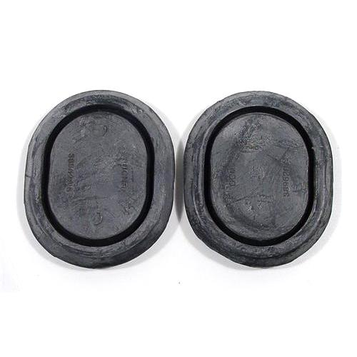 Mustang Bottom Corners Rubber Oval Plugs (79-93) Hatchback