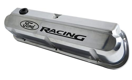 Ford Racing Mustang Logo Slant Edge Valve Covers Polished (79-85) 5.0 302-138