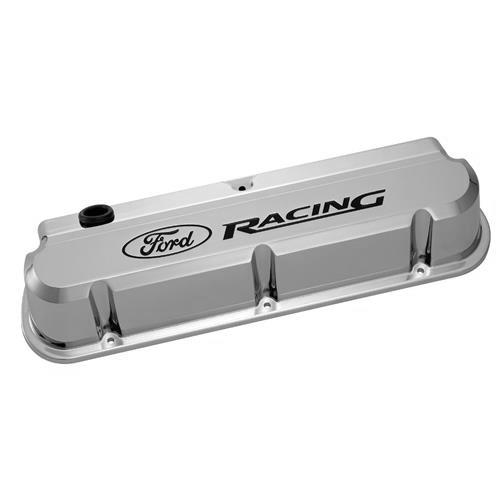 Ford Racing Mustang Slant Edge Valve Covers Chrome (79-85)