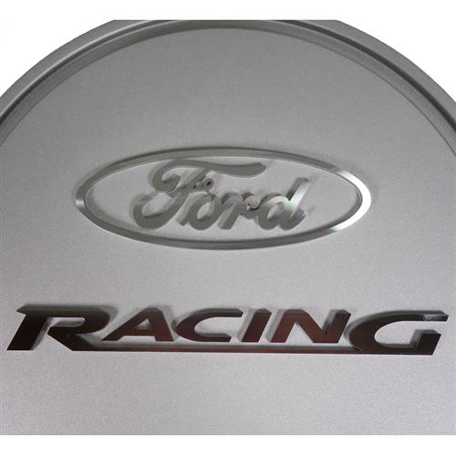 Ford Racing Mustang Slant-Edge Aluminum Air Cleaner  - Cast Gray Crinkle (79-85) 5.0 5.8 302-382