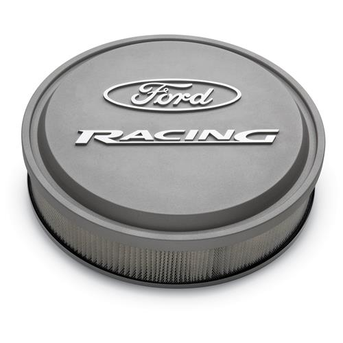 Ford Racing Mustang Slant-Edge Aluminum Air Cleaner  - Cast Gray Crinkle (79-85) 5.0 5.8