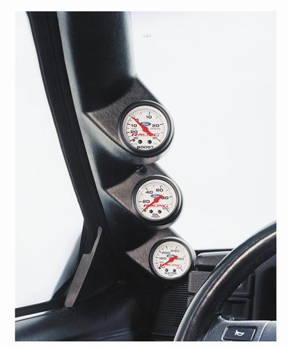 "Mustang Full Length Triple Gauge Pillar Pod 2 1/16"" (87-93)"