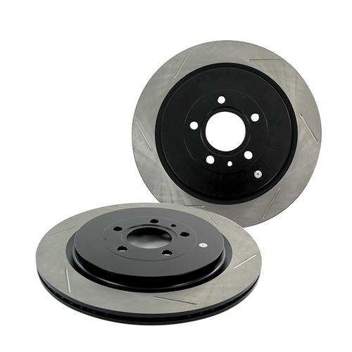 StopTech Mustang Performance Slotted Rear Rotors (13-14) GT500