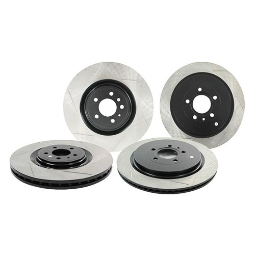 StopTech Mustang Performance Slotted Front & Rear Rotor Kit (13-14) GT500