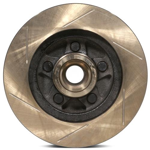 Stop Tech Mustang 5-Lug Slotted Front Brake Rotors (87-93)