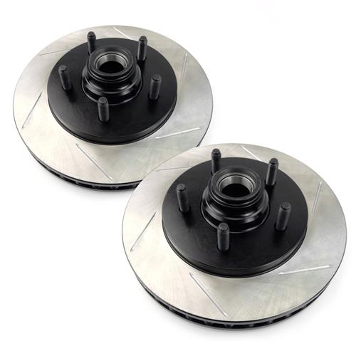 Stop Tech F-150 SVT Lightning Slotted Front Brake Rotors, Pair (00-04)