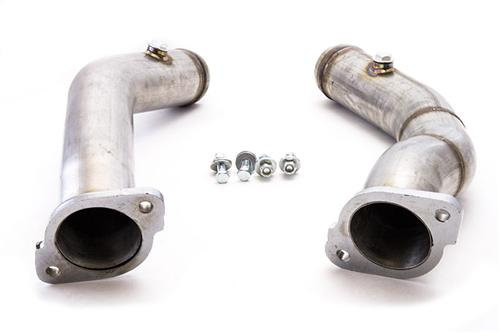 "2011-2014 Mustang GT Cat Delete Pipes,  Madrel Bent 409 Stainless Steel, 2.5"" diameter, Fits GT and Boss applications"