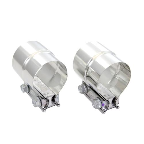 "Pypes Mustang Stepped 2.5"" Exhaust Clamps, Pair Stainless"