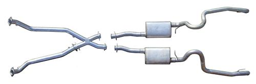 "Pypes Mustang 2.5"" Dual Turn Down & Off Road X-Pipe Exhaust Kit Stainless Steel (98-04) V6 3.8 SFM52"