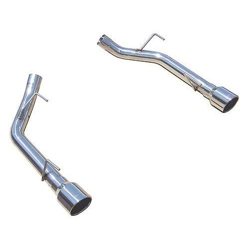 Pypes Mustang Axle Back Muffler Deletes Stainless Steel (05-09) GT-GT500 SFM62SS
