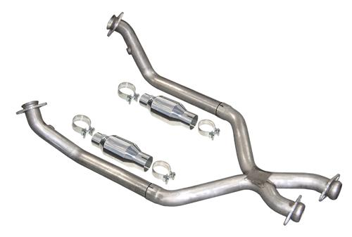 Pypes Mustang Catted X-Pipe For Shorty Headers Stainless Steel (86-95) 5 Speed 5.0 XFM30