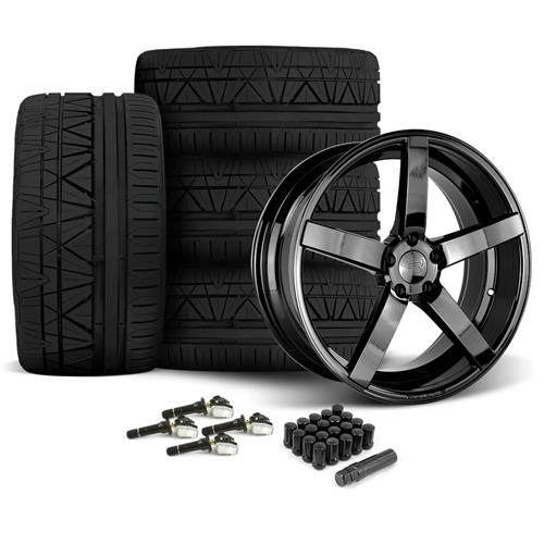 Rovos Mustang Durban Wheel & Tire Kit - 20x8.5/10 Gloss Black (15-16) Nitto Invo