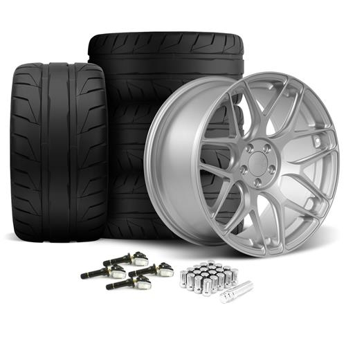 Rovos Mustang Pretoria Wheel & Tire Kit 20x8.5/10  - Satin Silver - NT05 Tires (15-16)