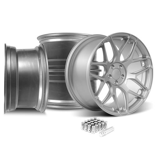 Rovos Mustang Pretoria Wheel Kit 20x8.5/10 - Satin Silver (15-16)