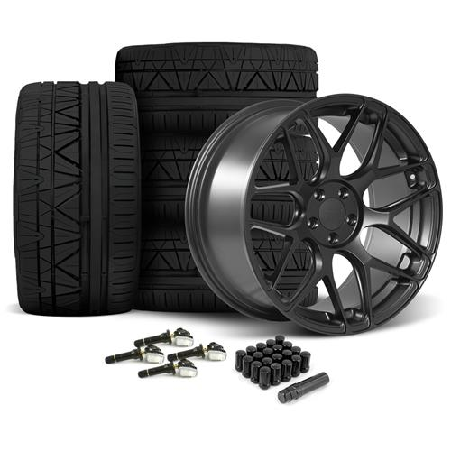 Rovos Mustang Pretoria Wheel & Tire Kit 20x8.5/10  - Satin Gun Metal - 295 Invo Tires (15-16) - Rovos Mustang Pretoria Wheel & Tire Kit 20x8.5/10  - Satin Gun Metal - 295 Invo Tires (15-16)