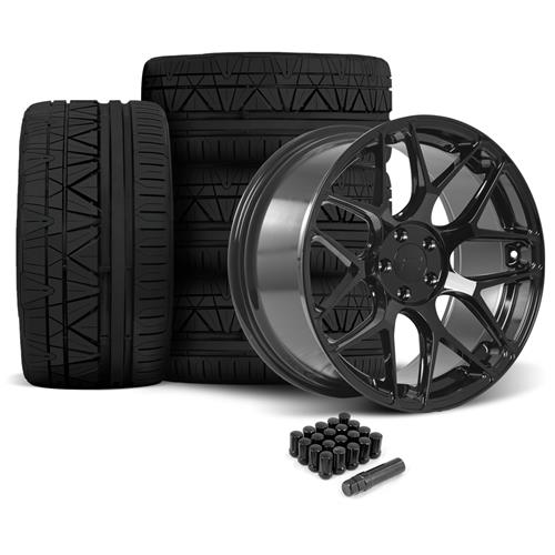 Rovos Mustang Pretoria Wheel & Tire Kit 20x8.5/10  - Gloss Black - Invo Tires (05-14)