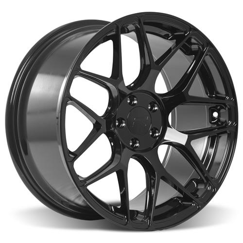 Rovos Mustang Pretoria Wheel & Tire Kit 20x8.5/10  - Gloss Black - 295 Invo Tires (05-14)