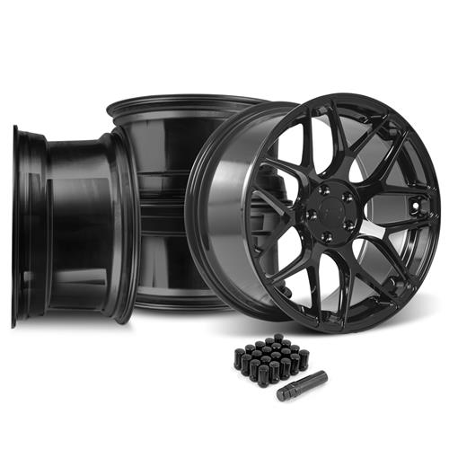 Rovos Mustang Pretoria Wheel Kit 20x8.5/10 - Gloss Black (15-16)