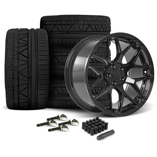 Rovos Mustang Pretoria Wheel & Tire Kit 20x8.5/10  - Gloss Black - Invo Tires (15-16)