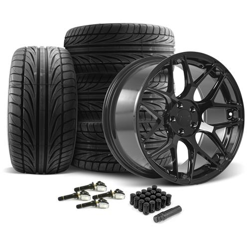 Rovos Mustang Pretoria Wheel & Tire Kit 20x8.5/10  - Gloss Black - Ohtsu Tires (15-16)