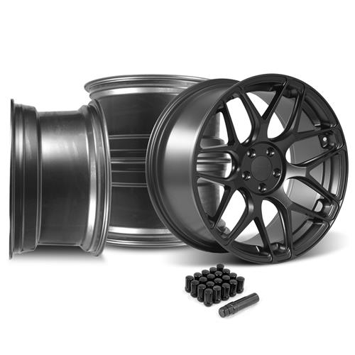 Rovos Mustang Pretoria Wheel Kit 20x8.5/10  - Satin Gun Metal (05-14)