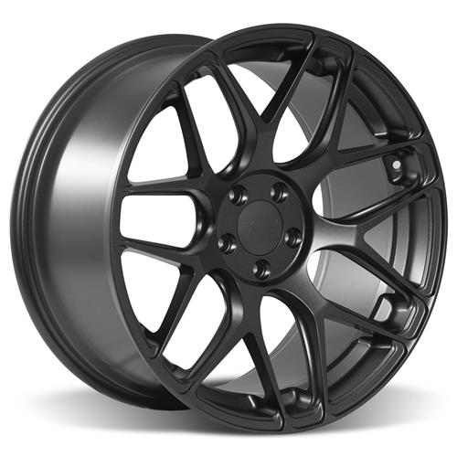 Rovos Mustang Pretoria Wheel & Tire Kit 20x8.5/10  - Satin Gun Metal - Ohtsu Tires (05-14)