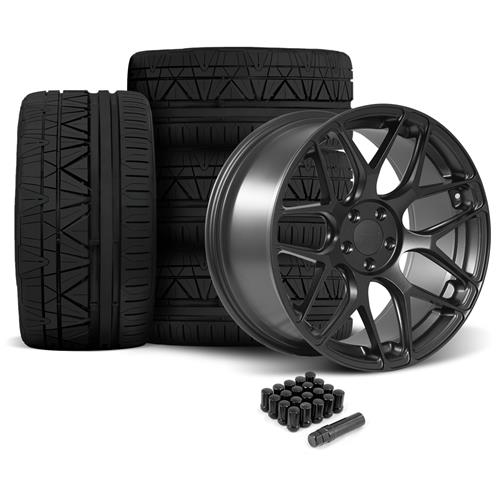 Rovos Mustang Pretoria Wheel & Tire Kit 20x8.5/10  - Satin Gun Metal - 295 Invo Tires (05-14)