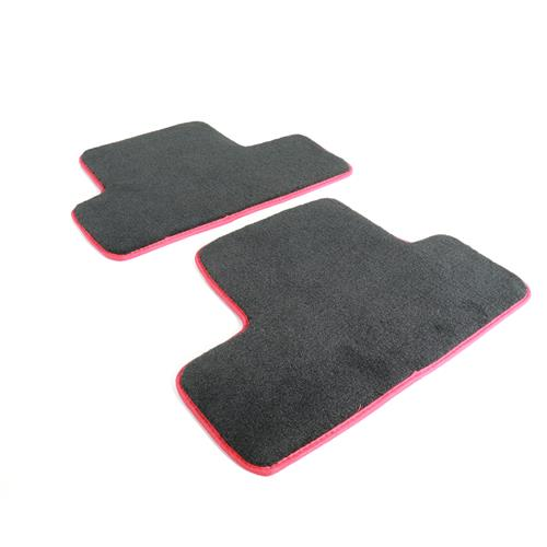 Roush Mustang Floor Mats  - Black w/ Red Embroidery (05-09) 401357