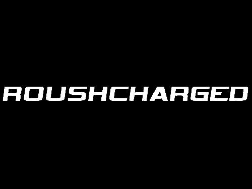 Roush Mustang Roushcharged Hood Scoop Decal White (05-09) 401854