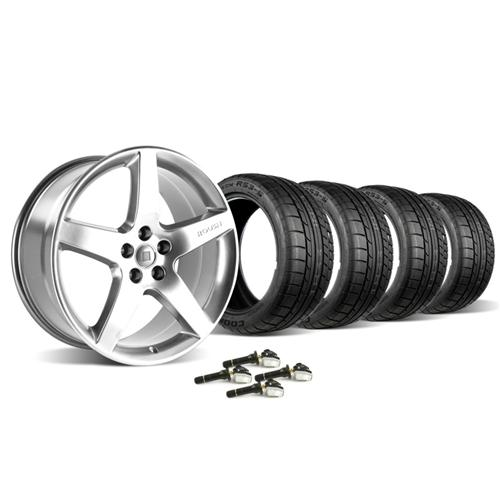 Roush Mustang Wheel & Tire Kit - 20x9.5 Chrome (10-14) Cooper Zeon RS3-S 420129