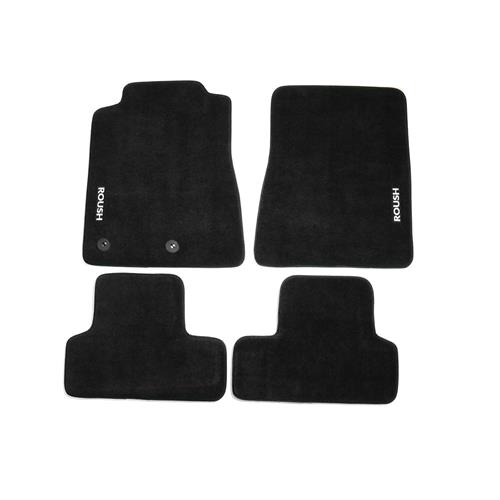 Roush Mustang Floor Mats  - Black w/ Gray Embroidery (11-14) 421118