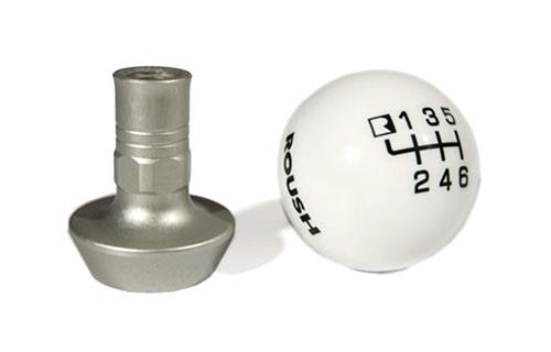 Roush Mustang 6 Speed Shift Knob w/ Collar White (11-14) 421556