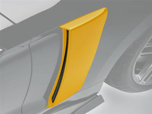 Roush Mustang Quarter Panel Side Scoops Triple Yellow (2015) 421872