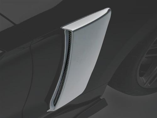 Roush Mustang Quarter Panel Side Scoops Ingot Silver (2015) 421879