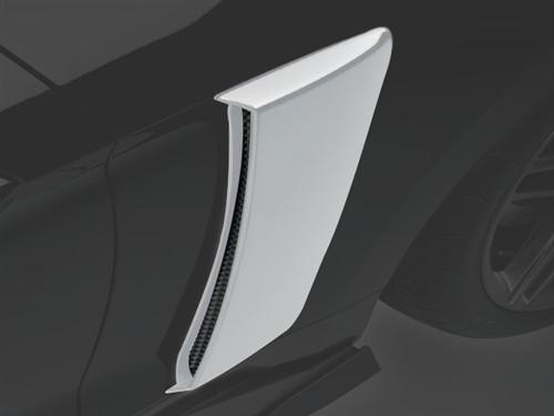 Roush Mustang Quarter Panel Side Scoops Oxford White (2015) 421880