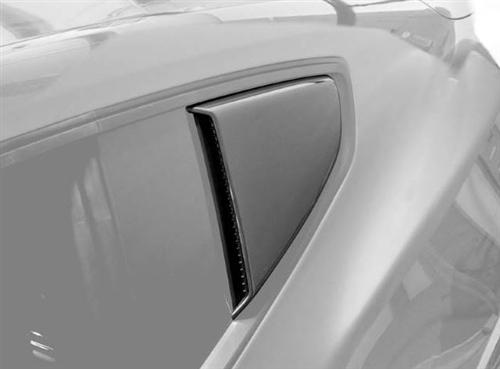 Mustang Roush Quarter Window Scoops Black (15-17)