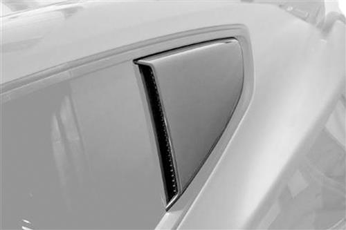 Roush Mustang Quarter Window Scoops Black (15-16) 421881