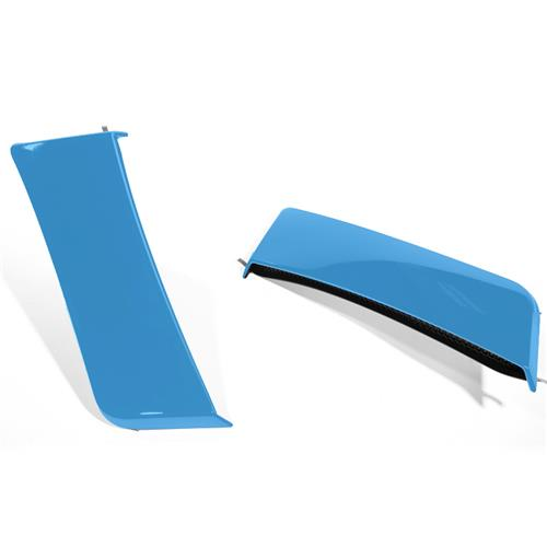 Roush Mustang Quarter Panel Side Scoops  - Grabber Blue (15-17) 422060