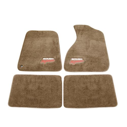 Roush Mustang Floor Mats  - Tan (94-04) SM94-5100-T