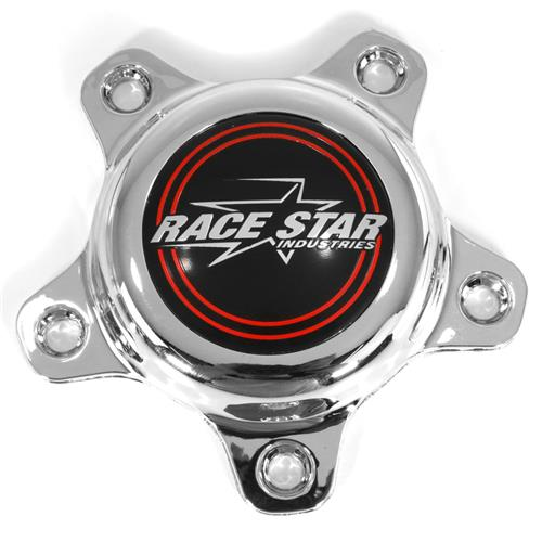 Race Star Replacement Center Cap - Polished 615-5096-1