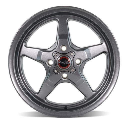 Race Star Mustang Drag Star Wheel - 15x3.75  - Metallic Gray - Direct Drill (79-93) 91-537021G